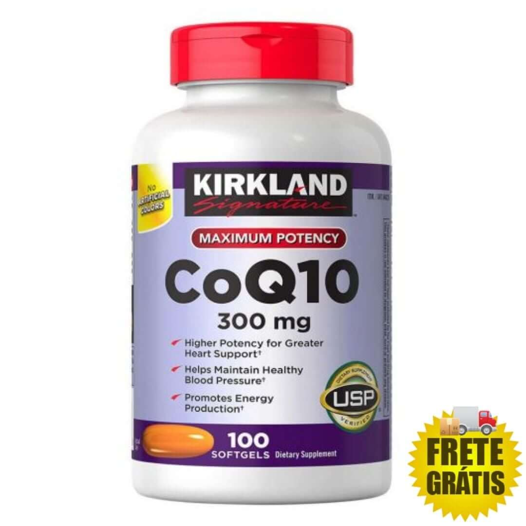 Coenzima Q10 Kirkland 300mg - 100 cápsulas