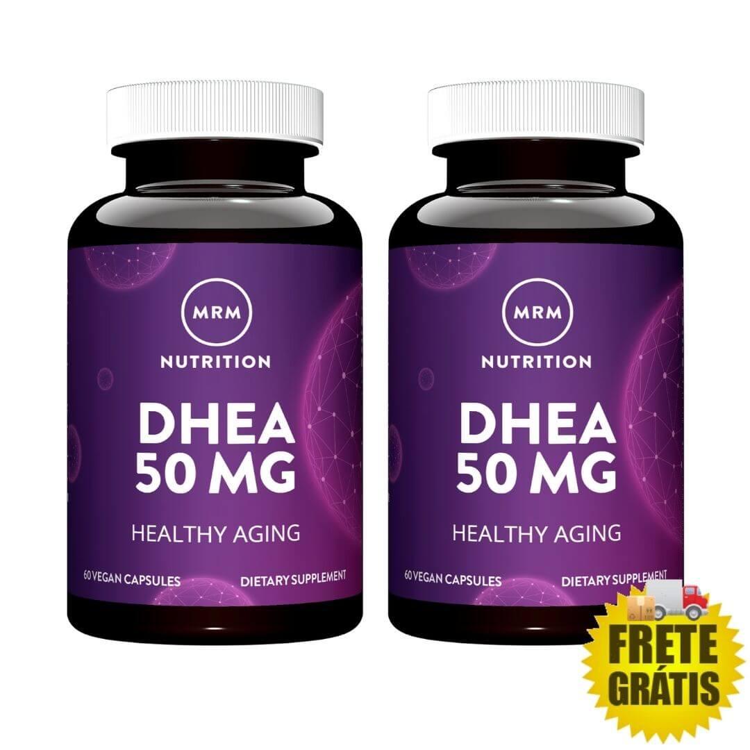 2 potes DHEA 50mg MRM (90 + 90 cápsulas)