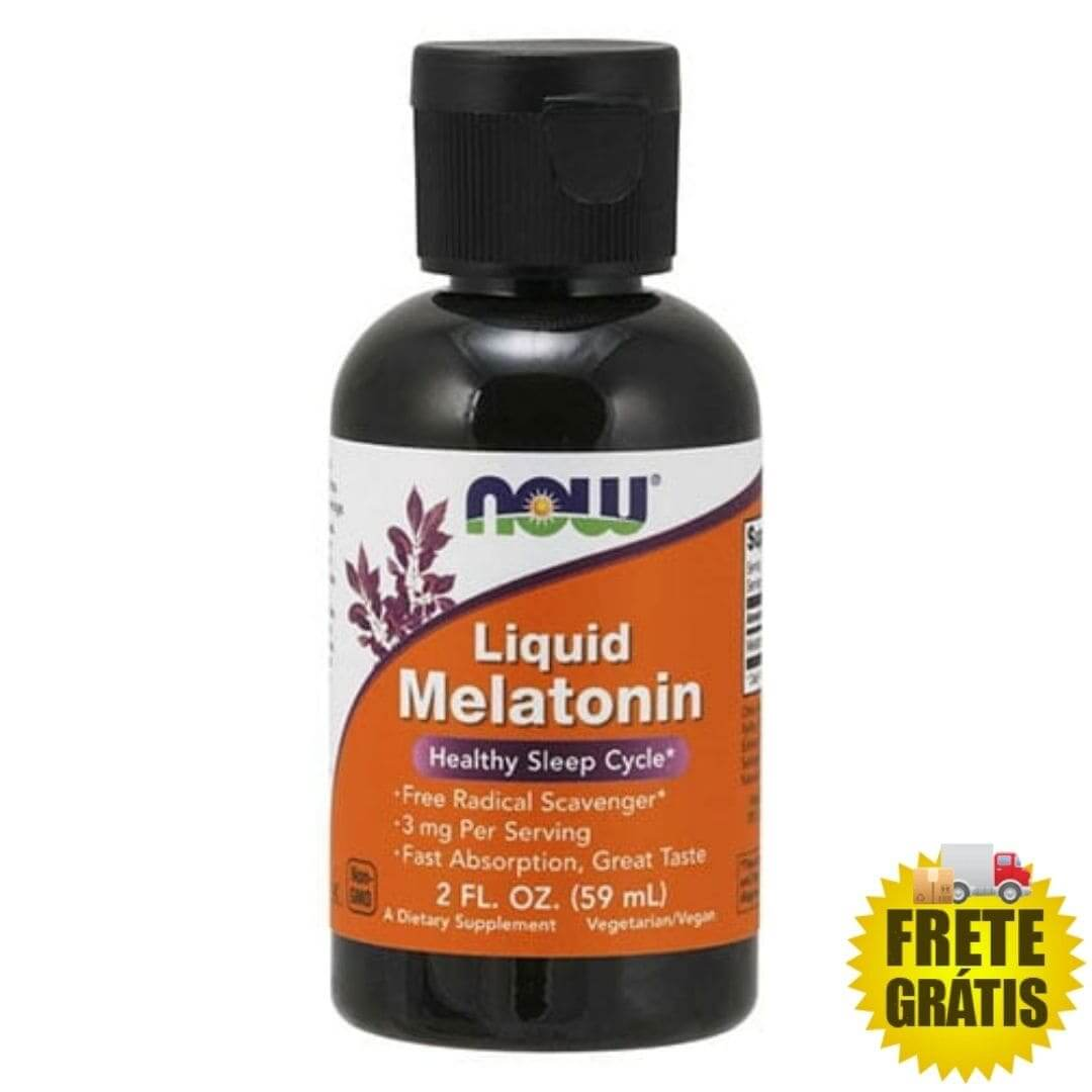 Melatonina Líquida 3mg NOW - 59ml (2fl. oz.)