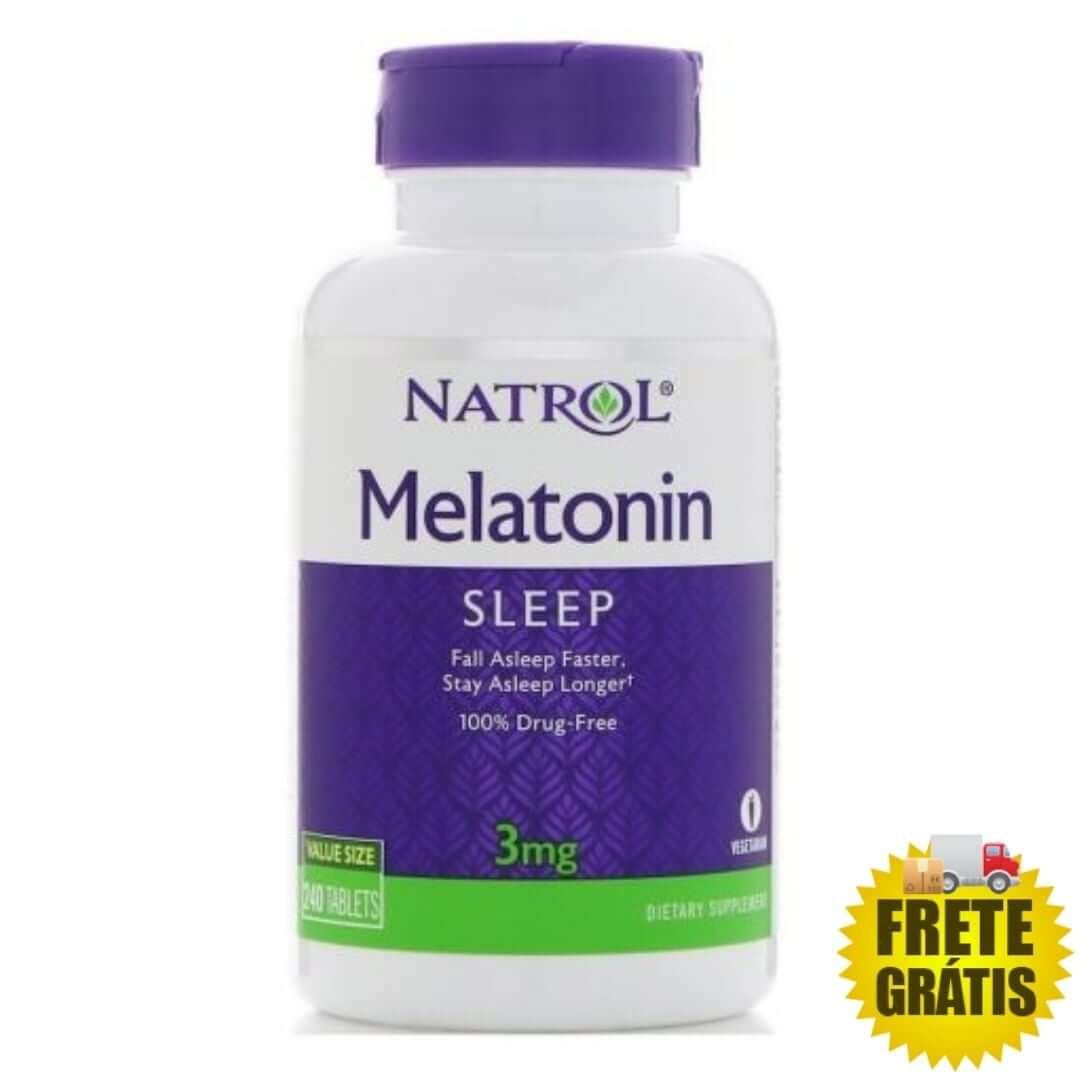 Melatonina Natrol 3mg - 240 comprimidos