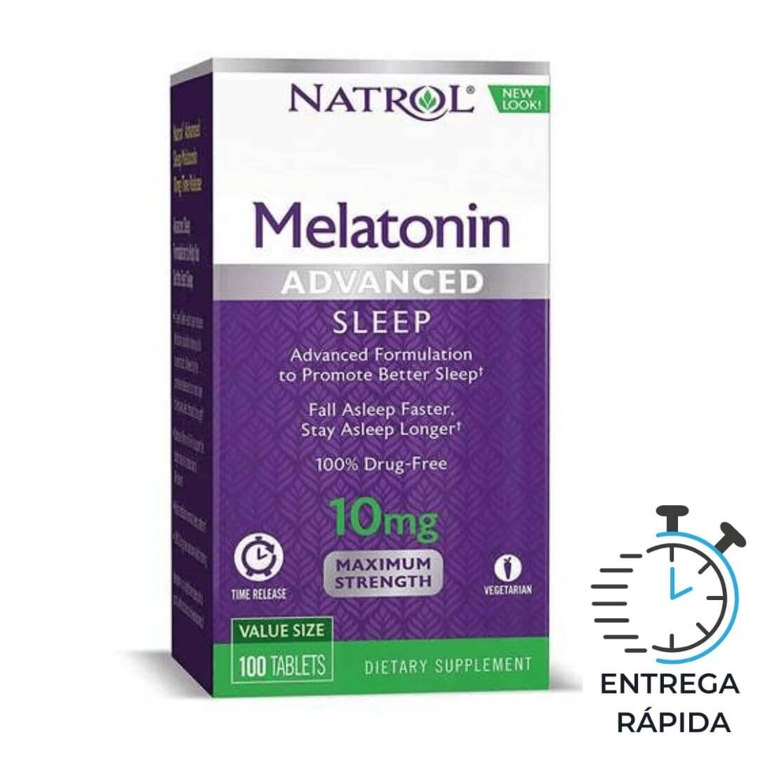 Melatonina Natrol Advanced 10mg - 100 tabletes