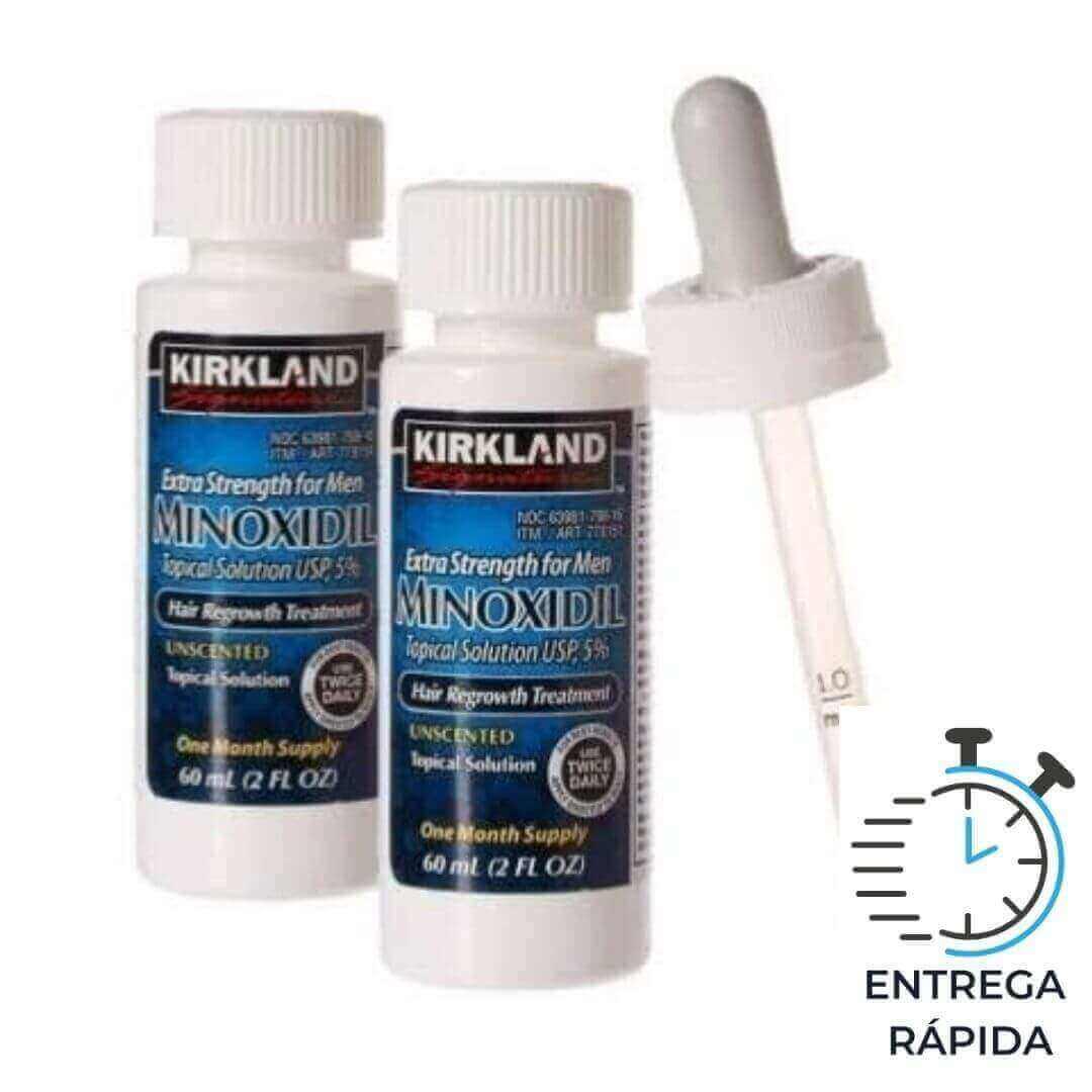 Minoxidil Kirkland 5% - 2 frascos para 2 meses