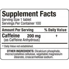 Cafeína Anidra Allmax - 100 tabletes de 200mg
