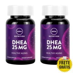 2 potes de DHEA MRM 25mg (90 + 90 cápsulas)