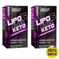 2 Potes Lipo 6 Black Keto (60 + 60 cápsulas)