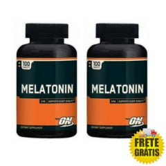 2 Potes Melatonina 3mg ON - Optimum Nutrition (100 + 100 cápsulas)