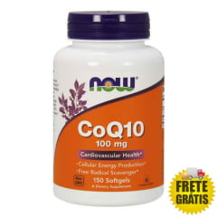Coenzima Q10 NOW Foods 100mg - 150 cápsulas