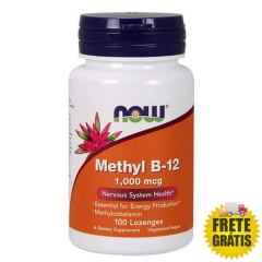 Vitamina B12 NOW - Metilcobalamina Sublingual - 100 pastilhas