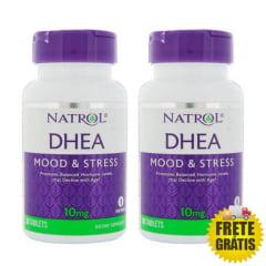 2 Potes DHEA Natrol 10mg (30 + 30 tabletes)
