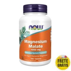 Magnésio Dimalato 1000mg NOW - 180 tabletes
