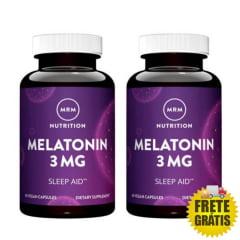 2 Potes Melatonina MRM 3mg (60 + 60 cápsulas)