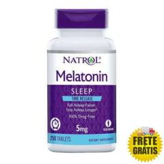 Melatonina Natrol 5mg Time Release (Liberação Gradual) - 250 tabletes