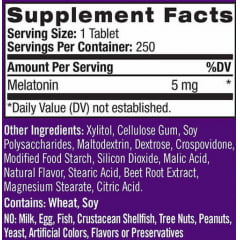 Melatonina Sublingual 5mg Natrol - 250 tabletes