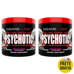 2 Potes Pré-Treino Psychotic - Insane Labz