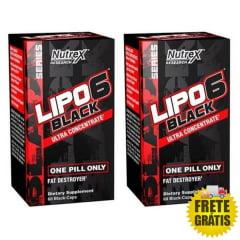 2 Potes Lipo 6 Black Ultra Concentrado (60 + 60 cápsulas)
