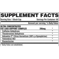 Lipo 6 Black Ultra Concentrado - NUTREX - 60 cápsulas