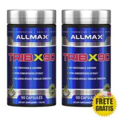 2 Potes Tribulus TribX90 Allmax (90 + 90 cápsulas)