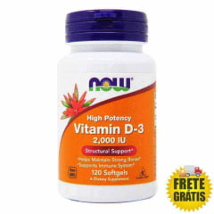 Vitamina D3 NOW 2000 IU - 120 cápsulas