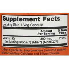 Vitamina K2 MK7 100mcg NOW Foods