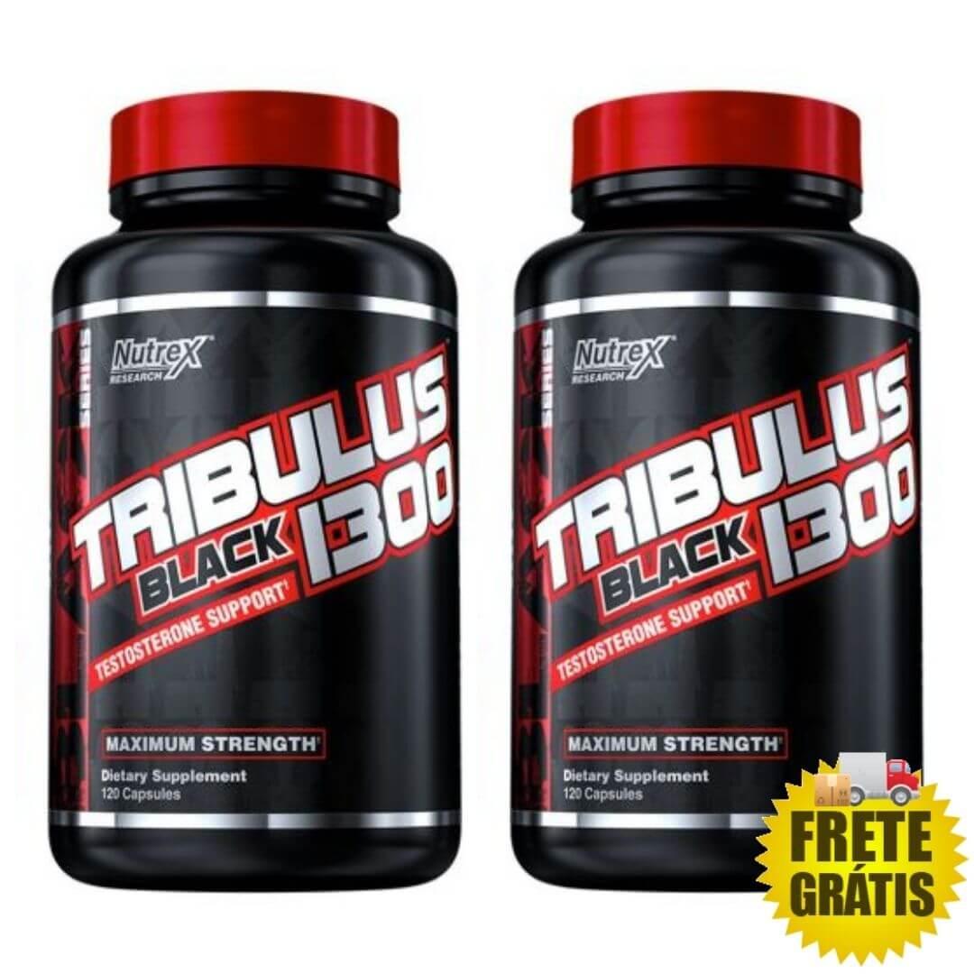 2 Potes Tribulus Black 1300 Nutrex - 120 + 120 cápsulas