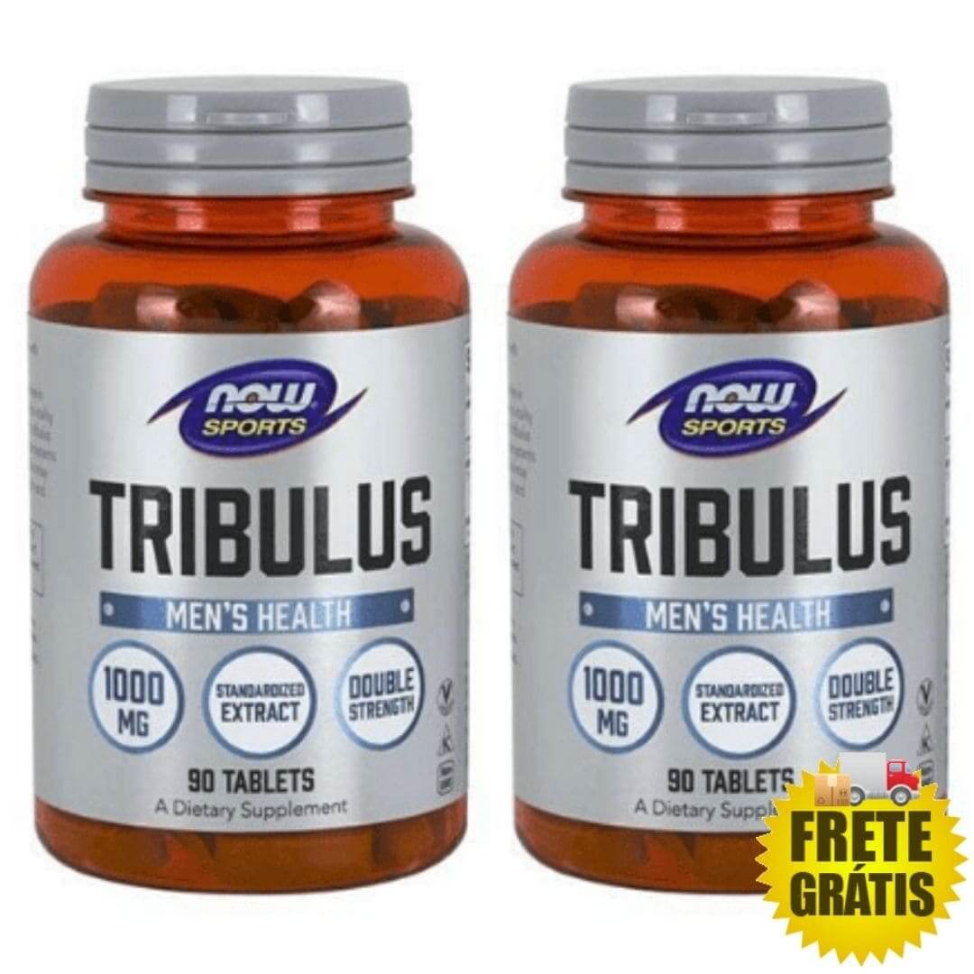 2 Potes Tribulus Terrestris Now 1000mg (90 + 90 tabletes)