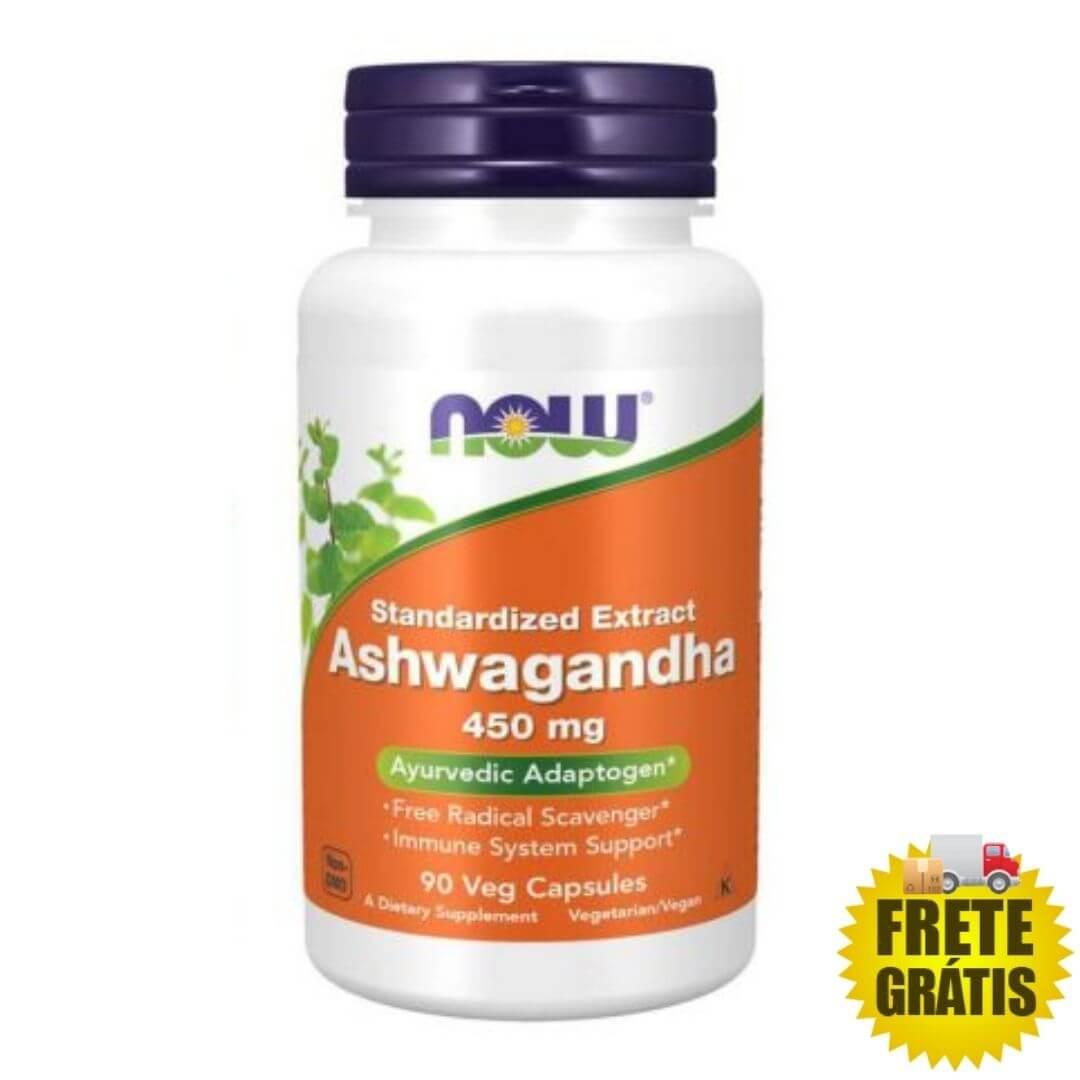 Ashwagandha (Ginseng Indiano) NOW 450mg - 90 cápsulas