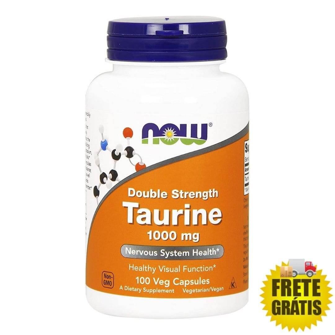 Taurina 1000mg Now Foods - 100 cápsulas